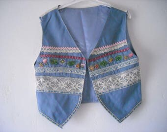 vest romantic vintage patchwork