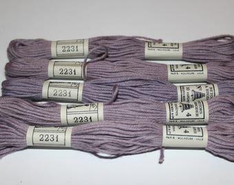 DMC cotton thread for plied tapiserie matte 2231 DMC embroidery FLOSS for canvas or bracelets
