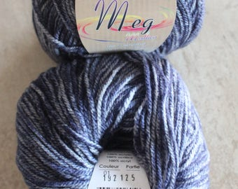 Ball of wool Heather blue multico Distrifil Meg