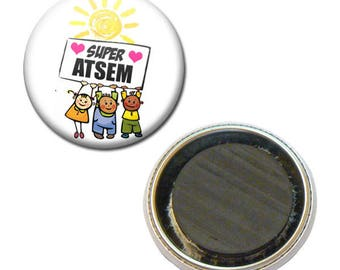 Magnet Badge 38 mm - Super pre-school kindergarten kids gift