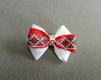 Elastic Hair Tie Band Bobbin Ponytail For Kids Children Baby Girls With Ornament Ribbon Hair Bow Headband