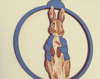 Peter Rabbit Hanging Decoration Hand Painted Christmas Bauble