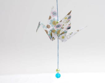 CUSTOMIZABLE * hanging mobile - origami Garland consists of 5 and beads