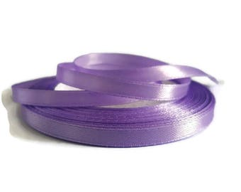 Purple 6 mm satin ribbon