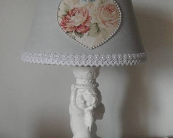 Light patina shabby chic / Angel decor and old rose