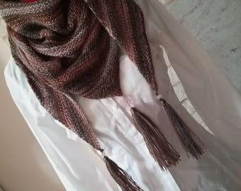 Trendy shawl wool degraded and beaded tassels
