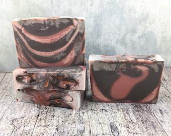 PRE-ORDER Mahogany Handmade Soap - Cold Process Soap, Bar Soap, Handcrafted Soap, Artisan Soap, Silk Soap