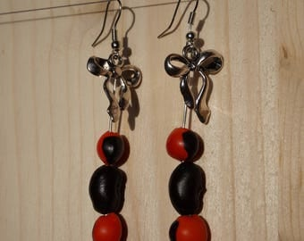 earrings with red and black immortal