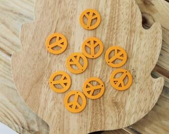 """Peace"" wooden pendant"