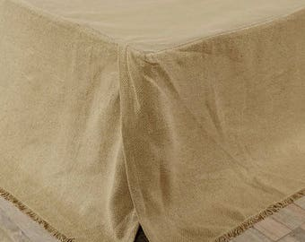 COUNTRY COLLECTION FARM BURLAP BED SKIRT