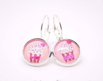 Earring studs treats Cupcake cake 2