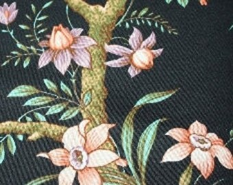 Black fabric with Japanese pattern loss