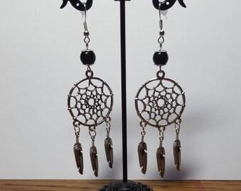Dream catcher earrings black dreams