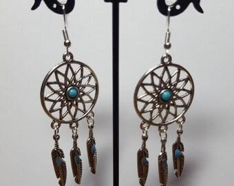 Dreamcatcher earrings turquoise dreams 2