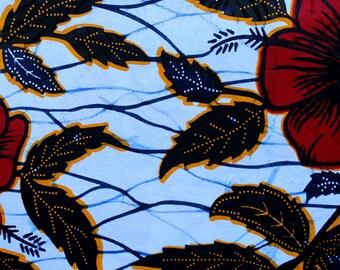 Wax Hibiscus waffle fabric