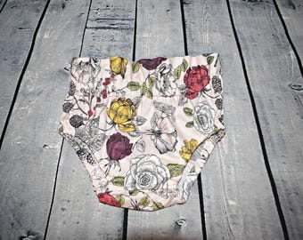 Floral high waist bloomers/diaper cover