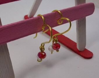 Creole earrings heart shape