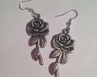 """""""Pink"""" silver-plated earrings"""
