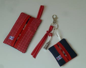 All Pocket handkerchiefs and bag Bisapomou Big Ben charm