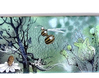Skate - bee and forest - Bzzzzzzzzzz BZZZZZ BZBzzzzz spray painted