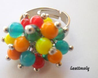 Multicolor ring in the colors of summer