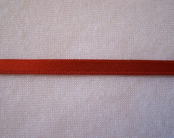 Double faced satin ribbon, rust (S - 338)