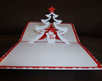 "handmade ""Merry Christmas"" Kirigami theme card"