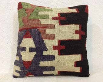 12x12 kilim pillow cover,hand woven pillow cover,Turkish pillow cover,country home decor