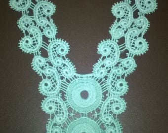 Pretty green crocheted lace