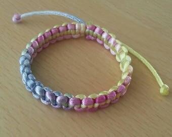 Rainbow Shamballa child bracelet
