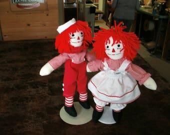 Raggedy Ann / Andy dolls