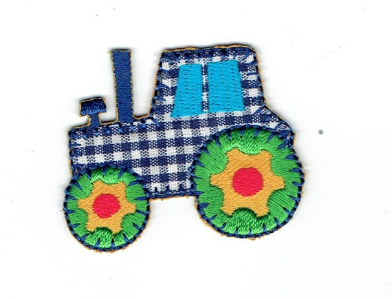 """Patch fusible trend """"tractor"""" pattern"""