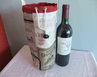 cool to give with bottle of wine bottle bag