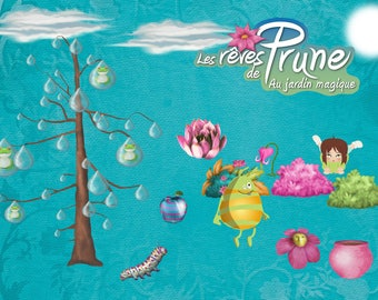 Set the frogs in the dream of plum tree