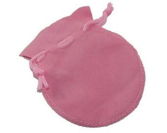 Pink suede storage pouch for crystals/jewelry/clocks