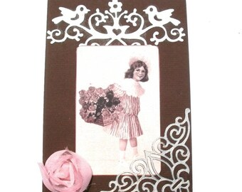 120 vintage greeting card girl