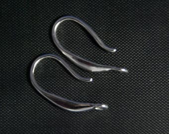 Earring drop 925 sterling silver 16 * 12 * 0.7 mm, the pair