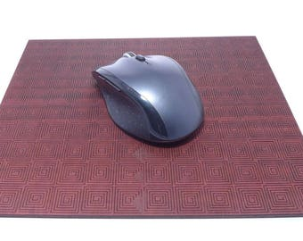 Manegal aztec mouse pad - dark magahony - 245 x 204.75 x 4.0 mm - designer underlay for the classy desk