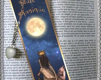 "Bookmarks laminated ""Magical night"", cheap gift idea"