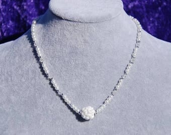 White Pearl Necklace, Magnetic Clasp Necklace, Pearl Necklace, Gifts for Her, Mothers Day Gift, Valentines Gift, Mother of the Bride
