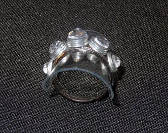 "Whimsical and unique ring ""Nut"" transparent color"