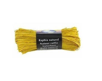 Natural raffia 50 Gr yellow - Maildor - Ref 196015C - until the stock!