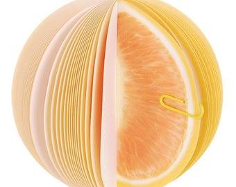 Block Fruit Orange notebook Memo Notes