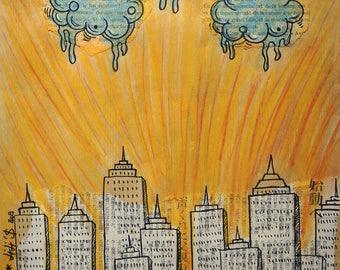 """Mini frame """"The City"""" - Lili'$ / gift idea"""
