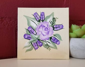 Purple Flowers and Buds Painting // Floral Painting // Roses // Rose Painting // flower painting