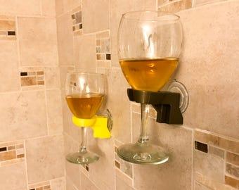 Bathtub shower wine glass holder/bath caddy/wine holder/beer holder/stocking stuffer/gift under 10/gift for wife/gift for mom/bubble bath