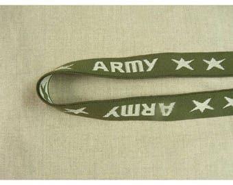 Ribbon elastic military pattern * * ARMY * 3.00 CM
