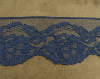 LACE Ribbon-7 cm - Blue