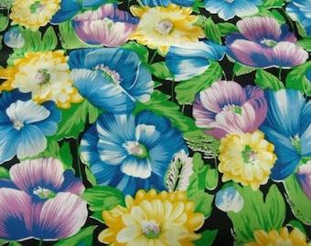 cotton fabric plus colorful flower