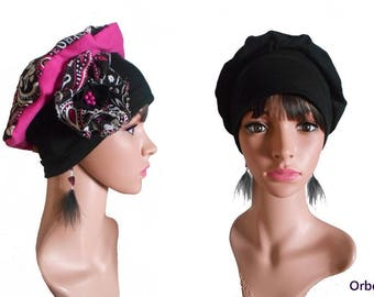 """REVERSIBLE chemo Cap its removable fabric flower & """"Sarah"""""""